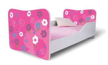 Detská jednolôžková posteľ Kytičky
