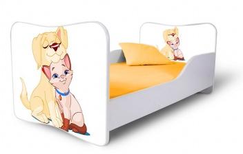 Posteľ do detskej izby Psík s mačičkou 2