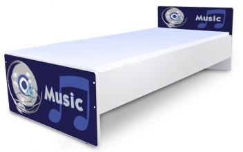 Posteľ do detskej izby pre chlapcov Music - modrá