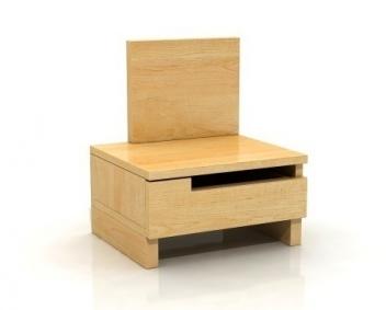 Nočný stolík Daga 1 z masívu borovice - ľavý