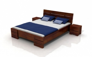 Borovicová manželská posteľ s úložným priestorom Maurits