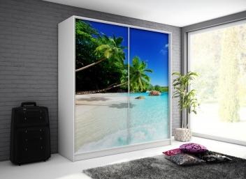 Šatníková skriňa s motívom pláže Monela 8