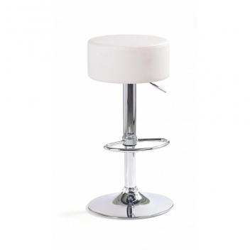 Čalúnená barová stolička Inesa 1 - biela